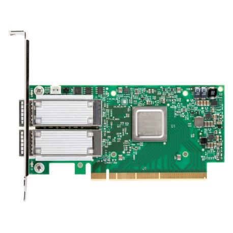 Адаптер Mellanox VPI MCX556A-ECAT ConnectX-5 VPI, EDR IB (100Gb/s) and 100GbE, 2 port QSFP28, PCIe x16 3.3