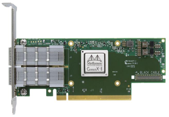 Адаптер Ethernet 200Гб/с Connectx-6 Mellanox